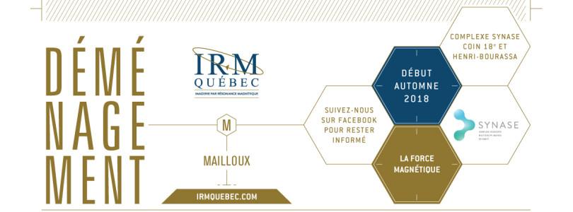 IRM QUÉBEC – CLINIQUE MAILLOUX DÉMÉNAGERA À L'AUTOMNE PROCHAIN